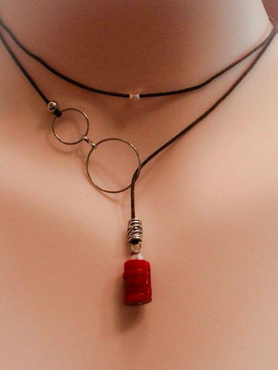 Envuelva el retractor de lazo turquesa collar por ColoBrownEyedGirl