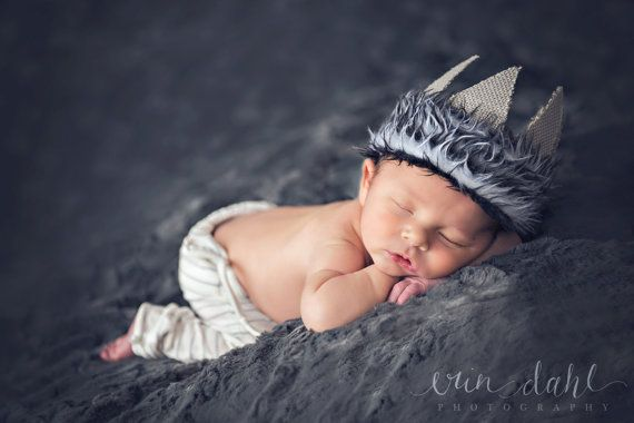 Newborn boy Photo prop Wild things Max crown by thetreetopshoppe