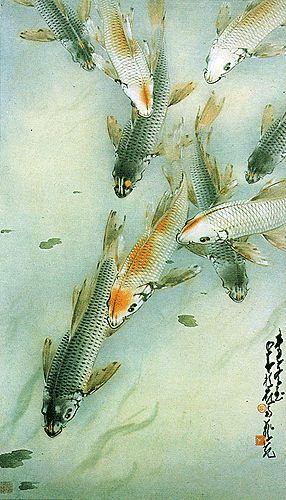 256 best images about nature koi carp betta goldfish for Koi art nature
