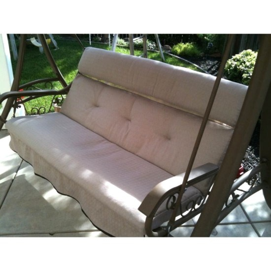 Outdoor Swing Replacement Cushions Costco Fix Porch Glider
