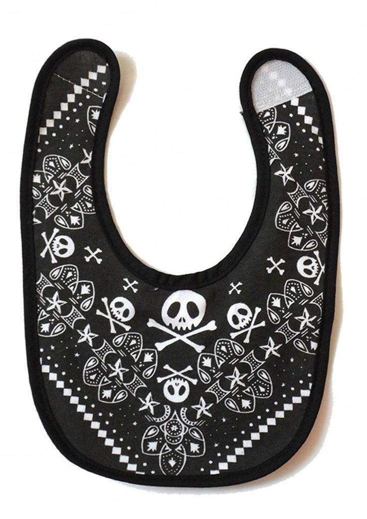 Skull-Baby-Bib-Rock-Baby-Bib-Clothes-Cool-Funky-Bibs