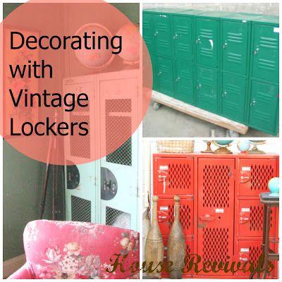 how to paint metal lockers to look vintage