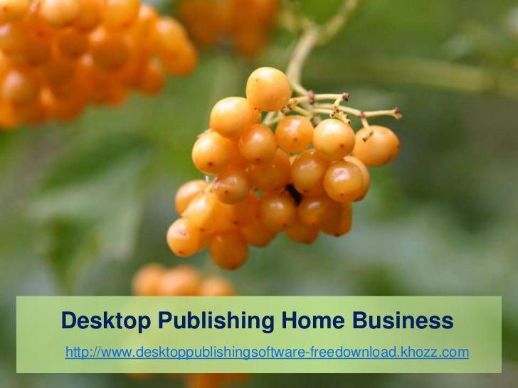 Desktop Publishing Home Business