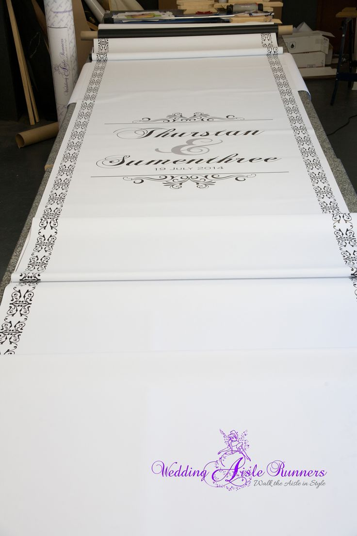Custom-designed, personalized wedding aisle runners at www.wedding-aisle-runners.co.za