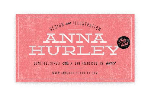 .: Cute Business Cards, Typography Moodboard, Business Card Design, Hurley Business, Cards Cars, Cards Inspiration, Annahurley 05, Business Cards Design, Anna Hurley