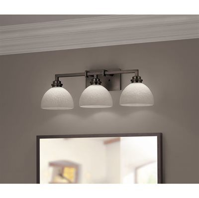 Shop portfolio light oil rubbed bronze contemporary bathroom vanity light at lowes canada find our selection of bathroom vanity lighting at the lowest