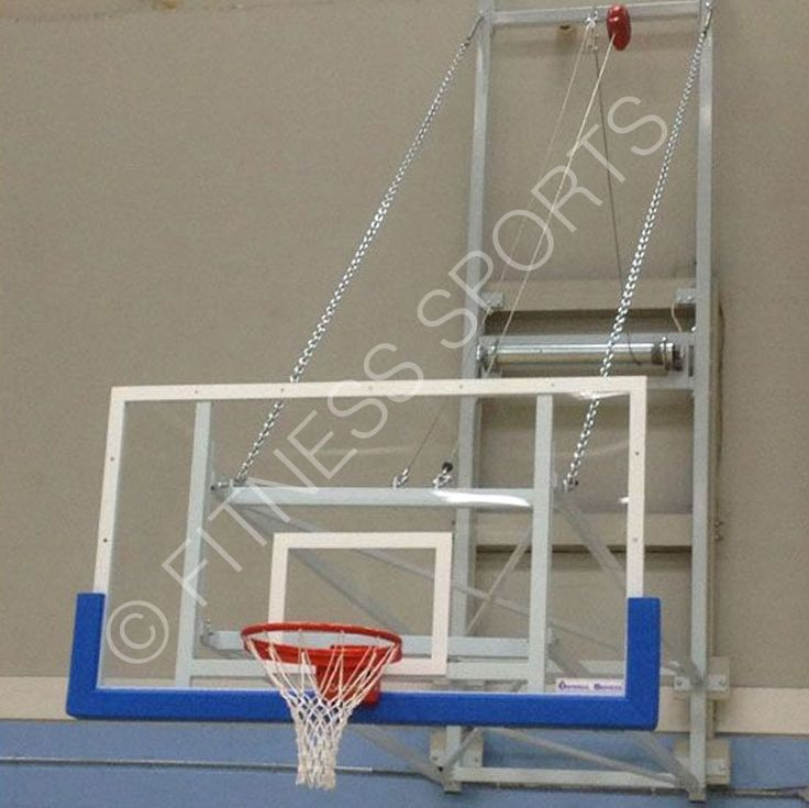 Electric 240v Automated Indoor Retracting Basketball System.
