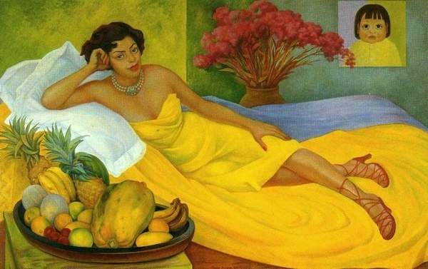 Portrait of Sra Doña Elena Flores de Carrillo by Diego Rivera. (Retrato de la Sra Doña Elena Flores de Carrillo) 1953.