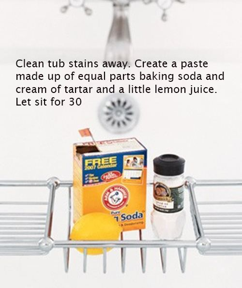 Removing stains from a tub