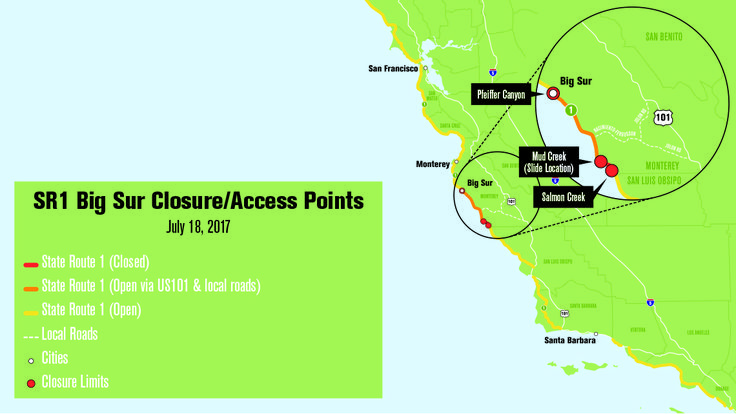 Big Sur tourism grapples with Pacific Coast Highway closure: Travel Weekly