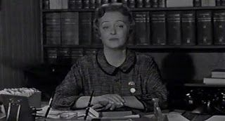 Storm Center (1956). Bette Davis plays Alicia Hull, the Kenport public librarian who refuses to remove The Communist Dream from the shelves, an action the city fathers have made a prerequisite for granting funds for a children's wing. At the town meeting, attorney Paul Duncan (Brian Keith) accuses her of being a communist herself and turns the citizens against her, ultimately undermining the loyalty of a young patron. http://www.imdb.com/title/tt0049800/