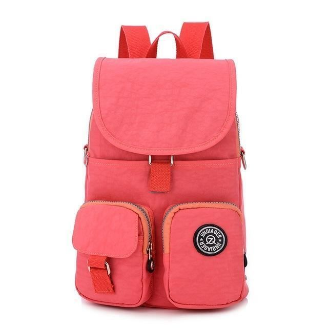 Printed Interior Compartment Zipper Decoration Backpack Bag For Girl