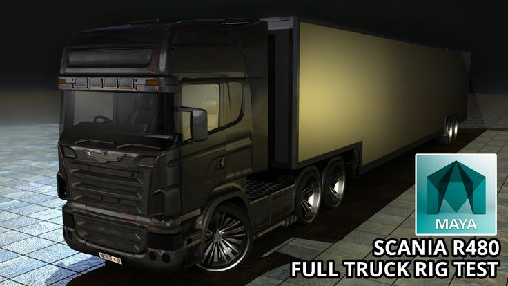 Autodesk Maya 2015 Scania R480 Truck Full Car Rig (Free 3D Model Downloads)