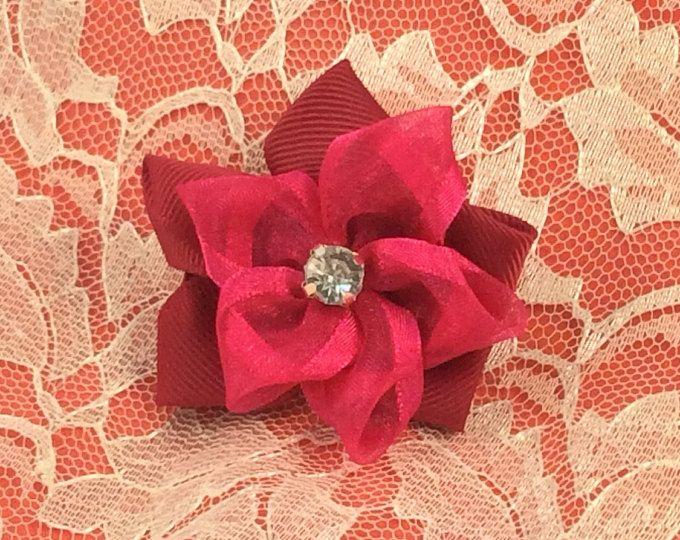 Handmade Hair Clip with Diamante Crystal- Annie Lane Boutique