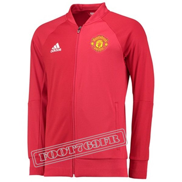 Nouveau: Veste Manchester United Rouge 2016 2017 | Veste Survetement - Foot769Fr