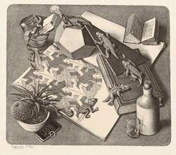 M.C. Escher - 4 Reptiles