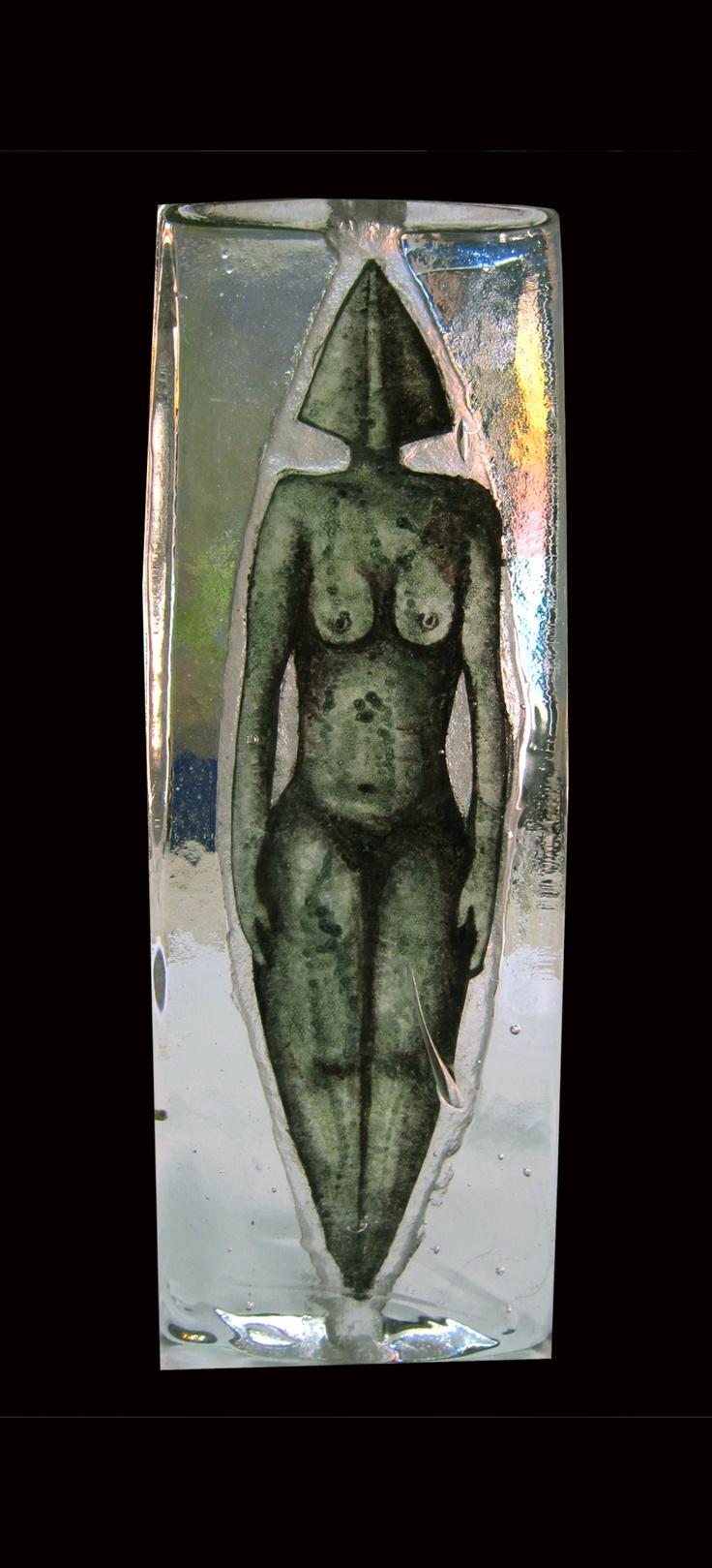 Cast Glass Sculpture. Atul Bakshi
