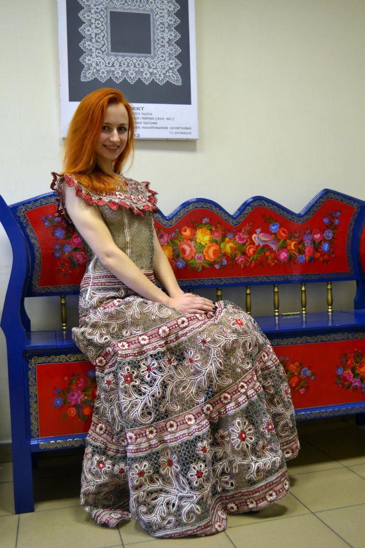 Кружевное платье на коклюшках - Ярмарка Мастеров - ручная работа, handmade