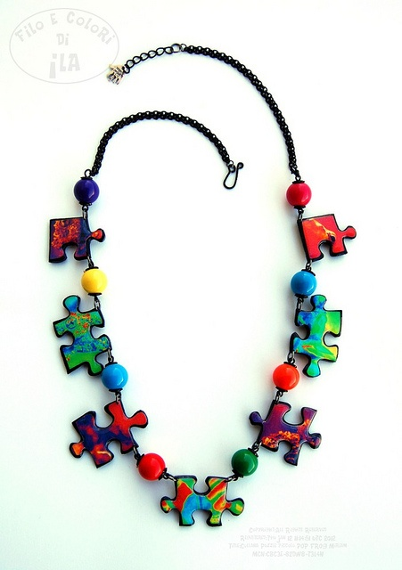 I love this necklace, it reminds me of the autism puzzle piece logo.  http://www.etsy.com/shop/Filoecoloridiila?ref=pr_shop