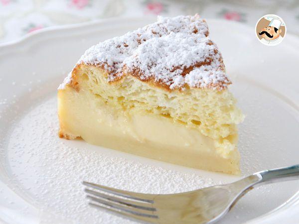 Torta magica limone e vaniglia