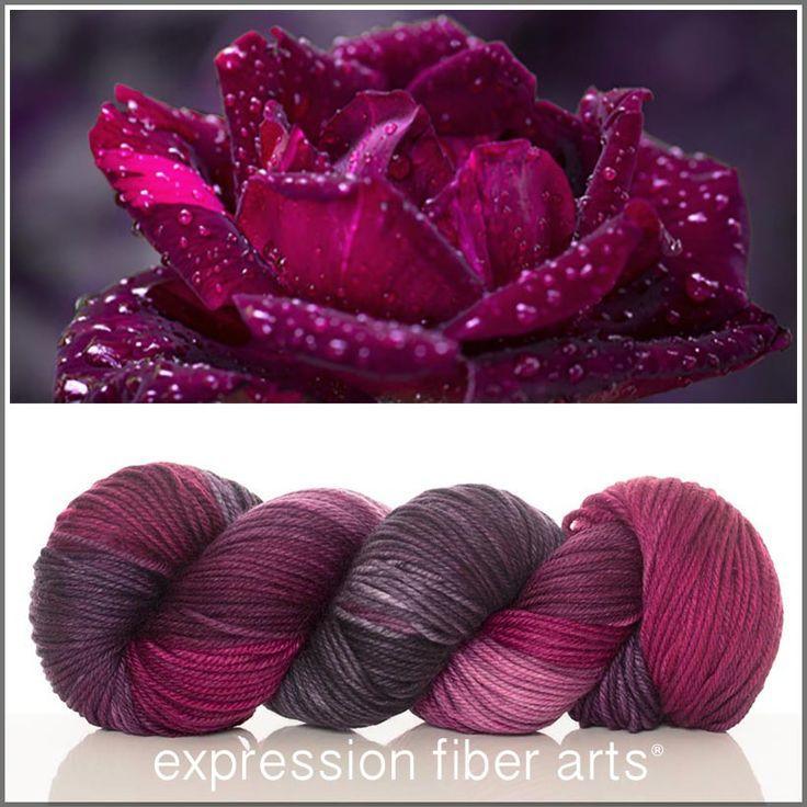 Expression Fiber Arts, Inc. - CADENCE SUPERWASH DEWY DK yarn - rich raspberry tones and muted plum, $23.00 (http://www.expressionfiberarts.com/products/cadence-superwash-dewy-dk.html)