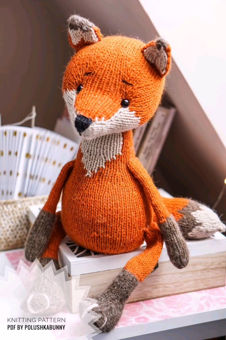 Fox Free Knitting Pattern Knitting Fox Toys Baby Animals Softies