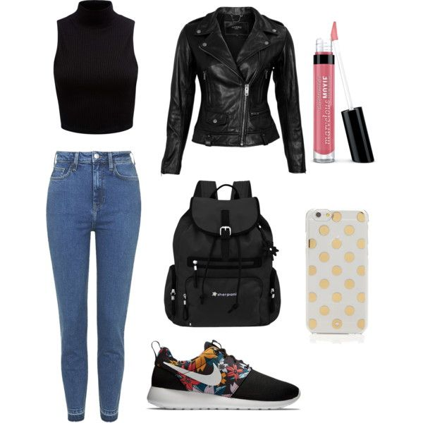 Concert by bambyee on Polyvore featuring polyvore, fashion, style, Forever New, VIPARO, Topshop, NIKE, Sherpani, Kate Spade and Bare Escentuals