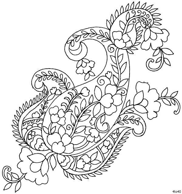 Indian Motifs Textile Pattern, Sarika Agarwal Butta Pattern Neck Design 2…