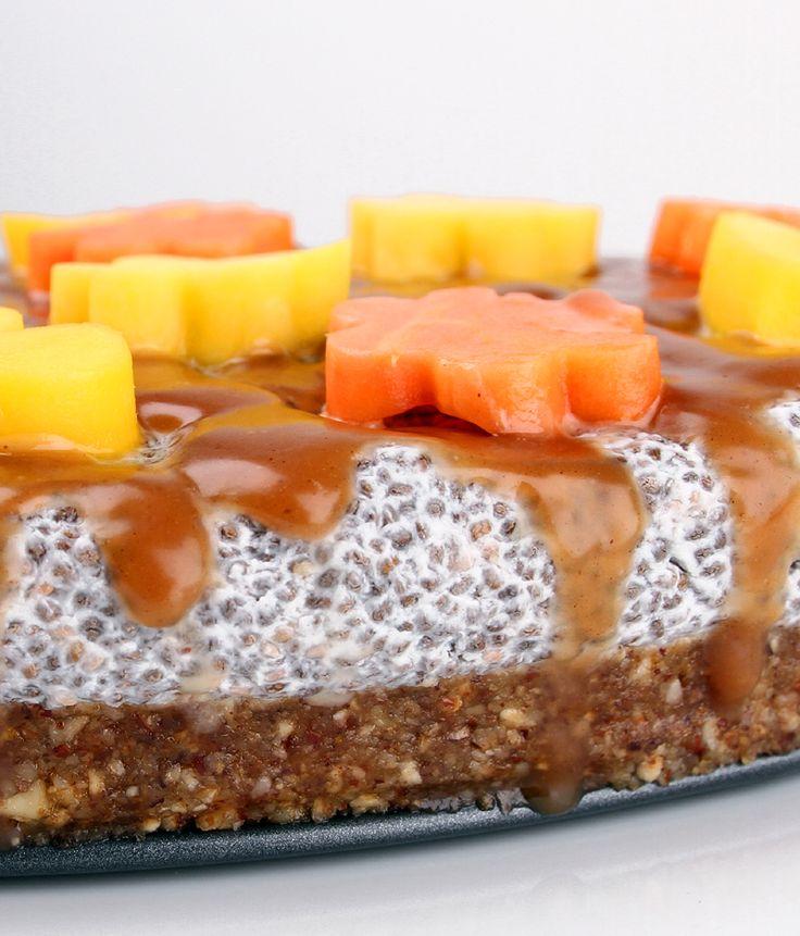 Oppskrift Chiapudding Kake Chiafrø Vegansk Kokosmelk Nøttebunn Dadler #chiapudding #kokosmjölk