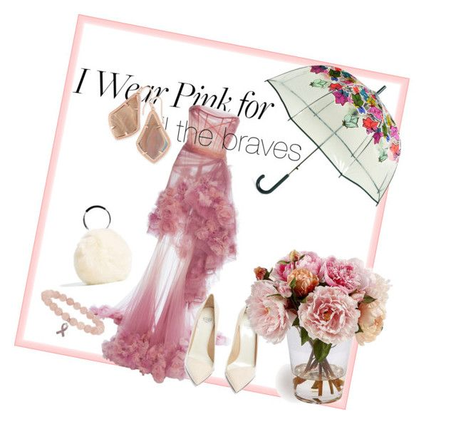 """Pink for every spirit"" by bernadett-soos on Polyvore featuring Vera Bradley, Marchesa, Francesco Russo and Kendra Scott"