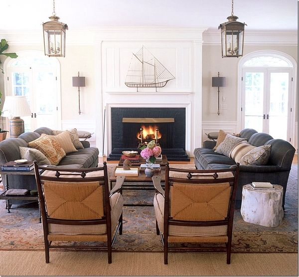 Into The Designer Den: 1000+ Ideas About Fireplace Furniture Arrangement On