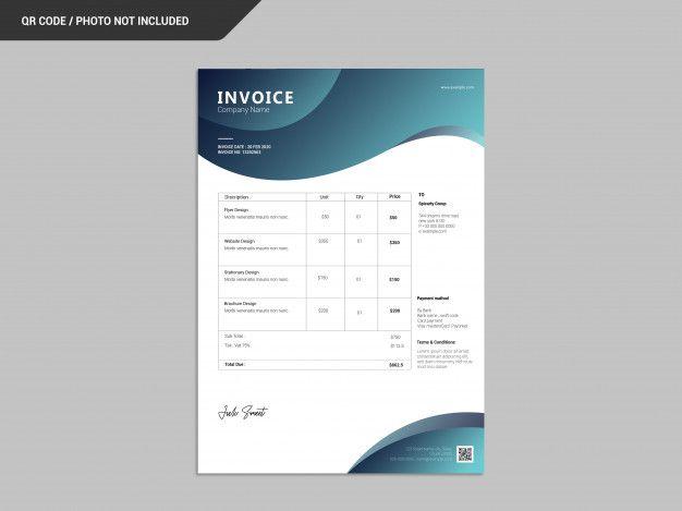 Abstract Invoice Template Invoice Template Invoicing Templates