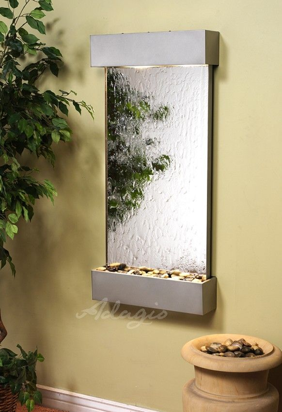 The Whispering Creek Wall Water Fountain Is Both Physically Beautiful And Totally Perfect Positioned Ve Wall Fountain Outdoor Wall Fountains Tabletop Fountain