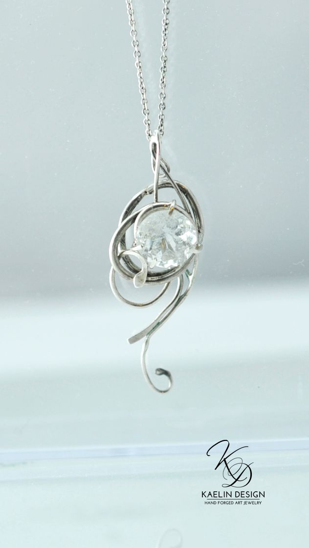 Silver Wind Pendant by Kaelin Design Art Jewelry