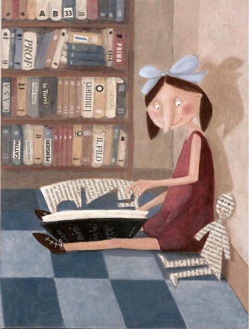 Diferentes usos del libro (ilustración de Rita Cardelli) Book Friend
