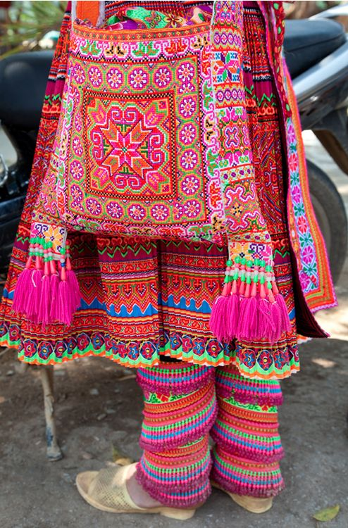 TRAVEL Flower Hmong Woman, Vietnam.