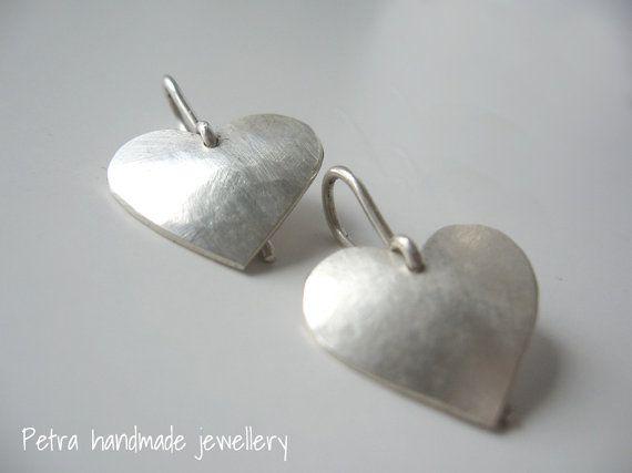 Orecchini in argento 925 Il mio Cuore peso di Petrahandmadejewelry