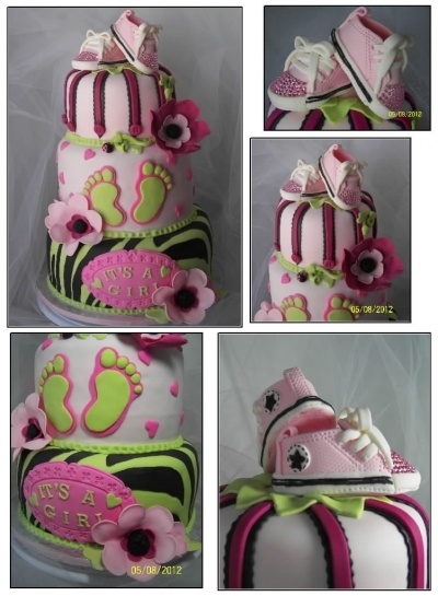 Converse Baby Shoes; Baby feet; Baby tennis shoes; Posh baby shoes; Keds; baby sneakers By janiceing on CakeCentral.com
