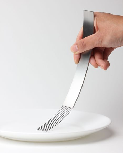 """Everyone knows the feeling of having a spoon in their mouth or the sound of a fork against the plate,"" he said. ""These are experiences we have known since we were born. However, most of us do not question the function of these everyday life utensils and what a simple change can do."" James Stoklund"