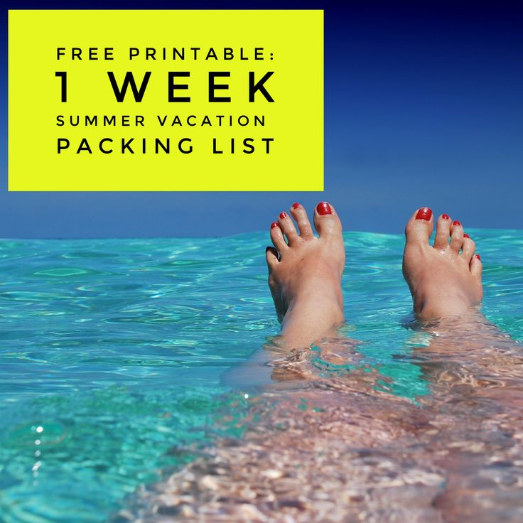 Free Printable: Summer Vacation Packing List