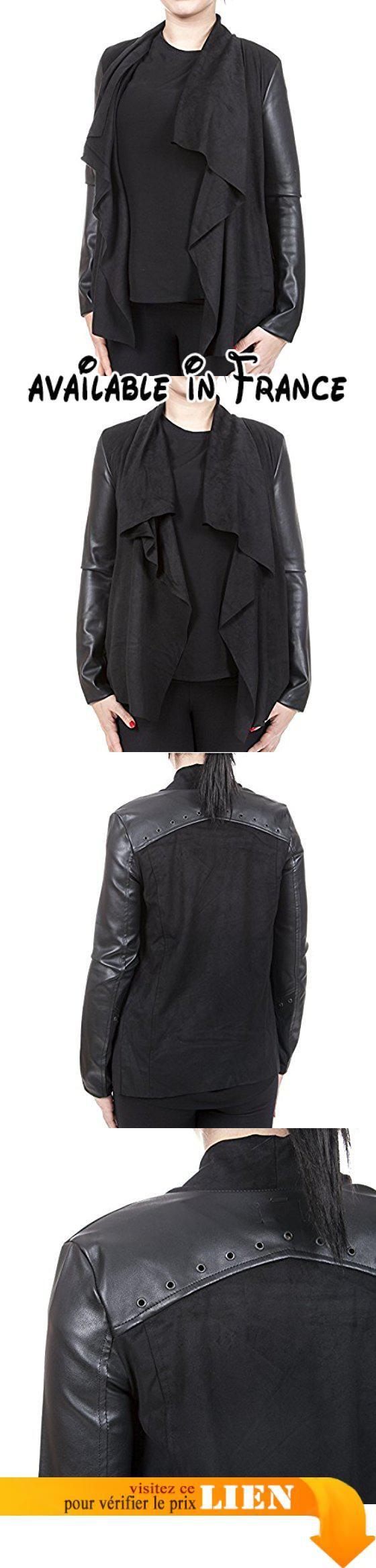 khujo - Gilet - Gilet en maille - Femme -  noir - Small.  #Apparel #SWEATER
