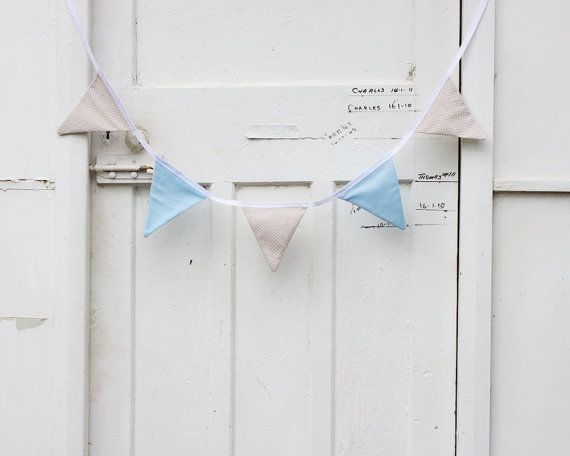 Bunting blue and white dress