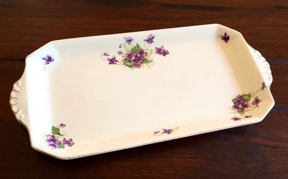 Vintage Plate Royal Staffordshire Pottery / A.J. Wilkinson Ltd  Honeyglaze Violets / Vintage Honeyglaze Plate / Vintage Royal Staffordshire