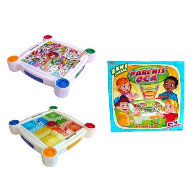Juego 2 en 1.  http://www.cosaspararegalar.es/ideas-para-regalar/juegos-de-mesa/juego-parchis-oca-53.html