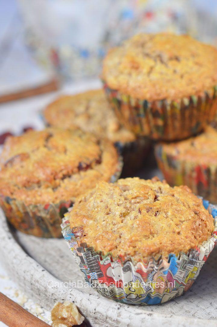 Gezonde havermout cupcakes. Je kunt eindeloos variëren en ze zelfs als ontbijt eten!  Healthy oatmeal cupcakes. You can vary endlessly and they even eat for breakfast