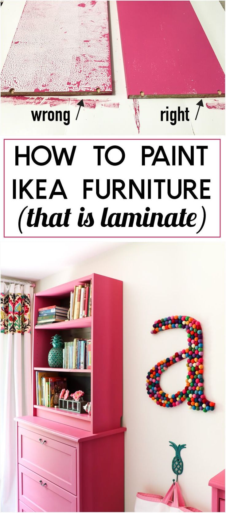 There Is A CRUCIAL TRICK To Painting Ikea Furniture That Is Laminate! Iu0027ve