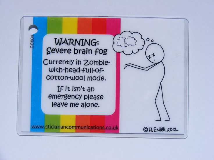 Warning Severe Brain Fog Keyring Thyroid Problems