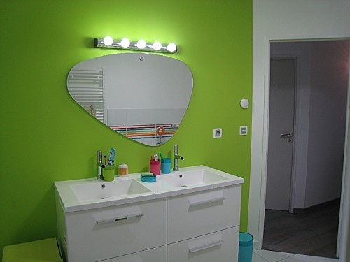 17 best images about deco salle de bain on pinterest hidden storage design - Stickers miroir ikea ...