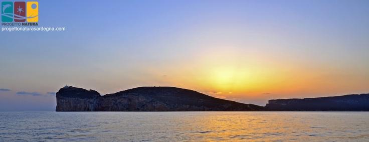 Capo Caccia at #sunset on board with Progetto Natura - #Sardinia