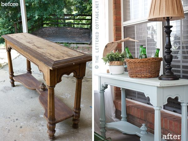 Potting Bench Serving Table Could Be Made From An Old Console Table Garden Inspiration